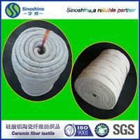 ISO high density braided reinforcement ceramic fiber rope for heat insulation