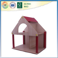 Poultry farm house design drawing with furnitures and dolls