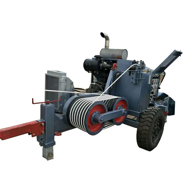 الهيدروليكية مجتذب مع الموتر خط نقل كابل سحب المعدات