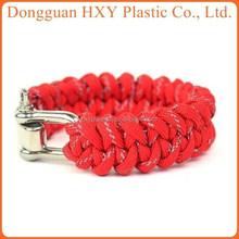 Hot Wholesale Adjustable Stainless Steel U Shackle colorful Handmade Braided Paracord Bracelet