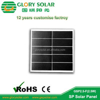2.5w professional mini customized solar panel manufacture in different size and voltage