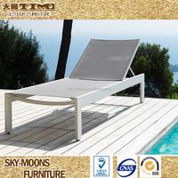 cheap wholesale mesh fabric villa furniture pool side sling chair ,sling lounge (TSL-007)