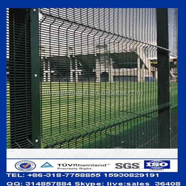 Pvc coated fence high security anti climb