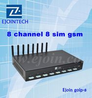 ejoin GSM 8 Port Modem With Wavecom Q2406 Q24PLus Module Support STK For Mobile Recharge IMEI Changeable support vpn