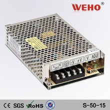S-50-15 switch manufacturers 3.4a 15v model power supply 50w