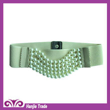 Hot Sale Fashion Multi Strands Pearl Elastic Belts for Women in Wholesale