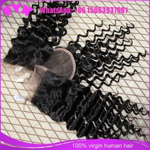 Factory wholesale price bleached knots top quality virgin lace closures