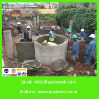 Dry Anaerobic Fermentation Container Biogas Digester plant for prison