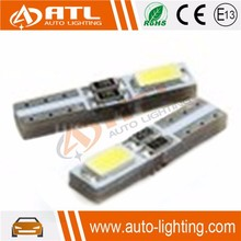 Newest high bright chip 2SMD 12V CANBUS white 5630 t5 led auto dashboard light