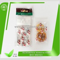 Clear Plastic Zippered Storage Bag/food storage bag