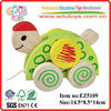 new product the tortoise trailer funny turtle toys- wooden OEM pull turtle toys EZ5109