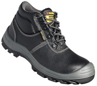 Black Classic Leather Upper Steel Toecap Safety Shoes safety jogger / bestrun