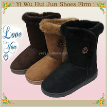 2015 New Fashion Cheap Price Warm Suede Winter Snow Boots Women