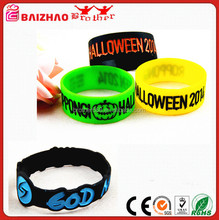 Popular silicone bracelet with ion in black