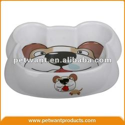Original Manufacture of Dog Face Shaped Wholesale Animal Pet Bowl