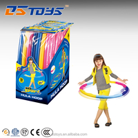 Promotion sports toys plastic fitness wholesale hula hoop for girl
