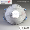 FFP2 disposable dust masks with valve and active carbon