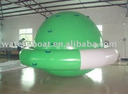 hot sale cheap inflatable rotating top UFO inflatable water rotating top inflatable UFO for water game.