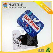 Manufacturer Fashionable customized plastic hole punched printing die cut card/irregular card/pvc card
