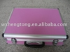aluminum case with pink panel