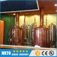 Draft red copper beer brewing equipment,Micro brewery beer equipment for hotel/bar/pub