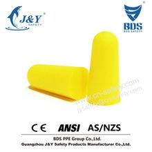 Pu espuma anti ruído earplug para Industrial atender CE EN352-2 ANSI AS / NZS 1270 padrão