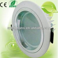 Bridgelux high lumen 230v 12w white adjustable led ceiling luminaire