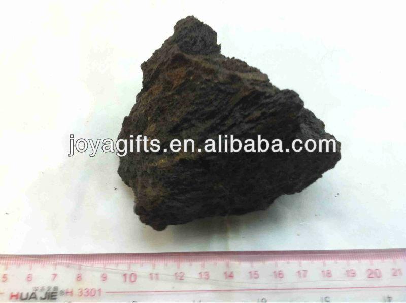 Değerli taş doğal kaba kaya, limonit çiğ taş kaya