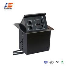 JS-110 High-End Mechanical Locking Device Desktop Electrical Switch Plug Socket