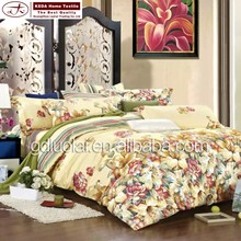 100% cotton brand name colorful pattern towel bed sheet for bedroom set