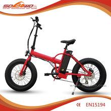 "SOBOWO 1:1 intelligent pedal assistant system 20"" mini fat tire folding/foldable electric pocket bike"
