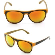 Orange lens wayfarer mirrored lens sunglasses with custom logo sun glasses YJ-S0324