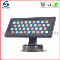 strobe and dimming effect 36w rgb led garden spot light