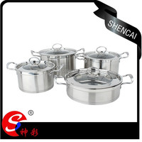New Desigh Capsuled Bottom Stainless Steel Cookware Set/Stock Pot Set/Soup Pot
