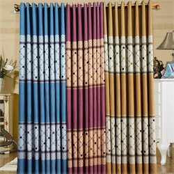wholesale finished curtain high-grade diamond stripes vertical curtain