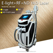 q switched 1064 nm 532nm nd yag laser & elight hair removal machine for sale