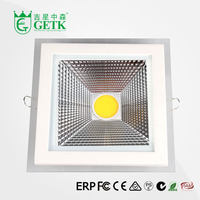 GETK COB led chip 18W clear cover square down light led
