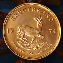 South Africa Gold Krugerrand Coin Tungsten Replicas With 22K Gold Plated