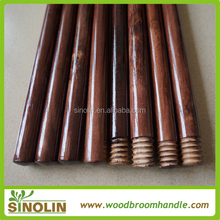 SINOLIN Colorful painted Eucalpytus wood varnish 22mm diameter wooden broom stick with Italian thread