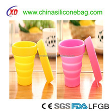 Food Safety Factory Directly Silicone Foldable Wine Glass Cup