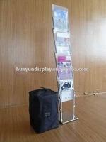 Portable brochure shelf