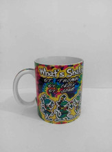plain white blank ceramic mug,custom ceramic coffee mug,ceramic mug with biscuit pocket