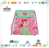 Customized recyclable nylon polyester Drawstring bag