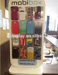 Countertop custom rotating mobile phones display