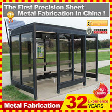 zinc coat C.R.S. bus stop with chair