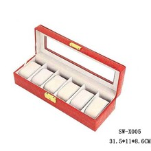 Men's gift personalized solid wood leather watch box
