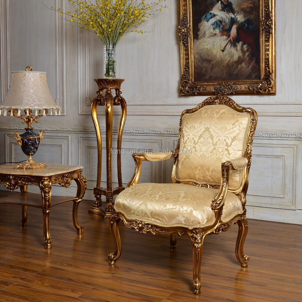 C59 Antique Gold Classic Bedroom And Living Room Single Sofa Chair Buy Antique Classic Single