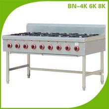 8 Burner Gas Range On Open Stand For Restaurant Equipment