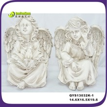 custom safe resin angel statues for indoor or outdoor decoration