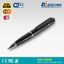 Best seller TUTK platform pinhole wifi motion detection p2p AP function 1.0MP pen ip camera(DVR-703WF)